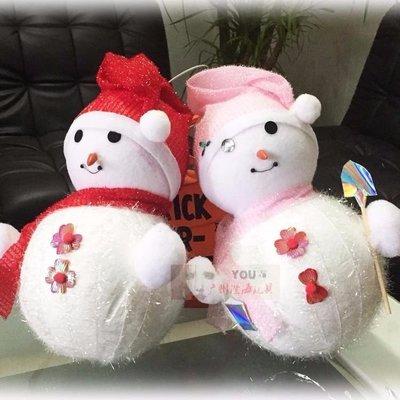 ~圣誕節裝飾用品 36cm泡沫圣誕雪人 圣誕樹掛件套裝活動節日禮物