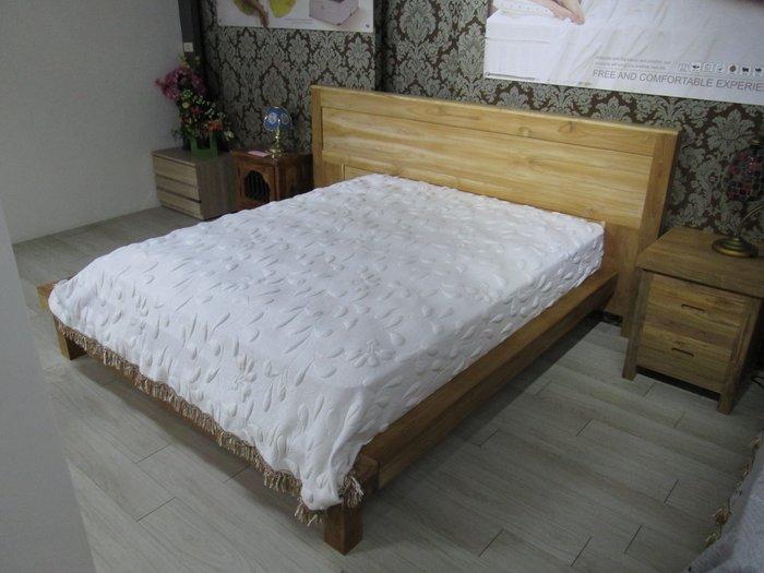 【肯萊柚木傢俱館】獨特自然 100%老柚木 無上色 大塊料製作 6尺床架(不含床墊) 限量一組