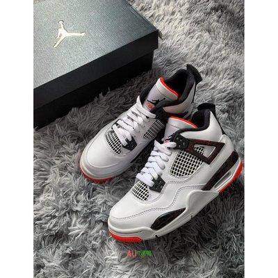 """Air Jordan 4 """"hot lava""""熱熔巖 紅白 籃球鞋 308497-116"""