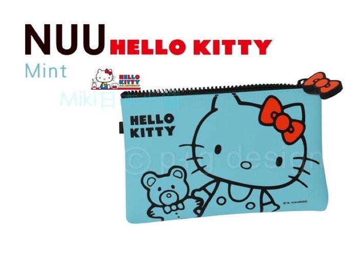 *Miki日本小舖*p+g design NUU HELLOKITTY凱蒂貓防水矽膠化妝包/收納包/筆袋/手拿包~綠色