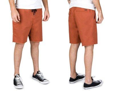 [JIMI 2] Brixton - Madrid Short 抽繩短褲 加州質感品牌 滑板 重機 (焦橙色)