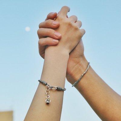 PARANOID韓國【像極了愛情】Anywhere手工復古925銀中性男生手鍊情侶星座手鍊