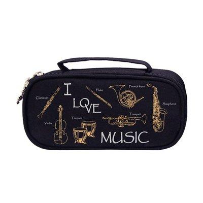 【華邑樂器98211-1】上翻式經典樂器筆袋-樂器版 (19x10x5.5cm 台製T029E)