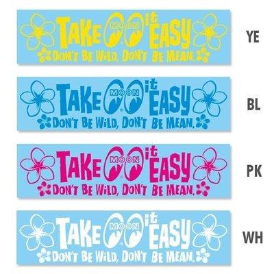 (I LOVE 樂多) MOONEYES Take it Easy Sticker 夏日風雞蛋花 轉印貼紙 防水耐候