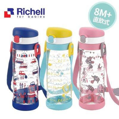【媽媽倉庫】日本Richell利其爾直飲冷水壺450ml 水瓶