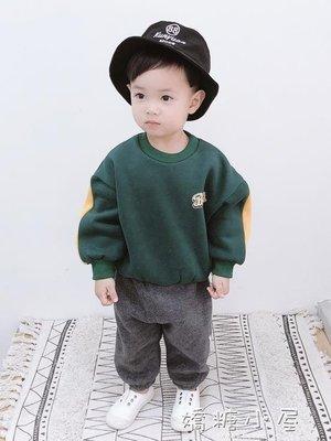 寶寶衛衣加絨加厚嬰兒冬裝新款小童卡通上衣男童衣服休閒3歲