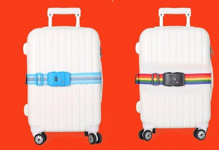 *蝶飛*出國首選 美國TSA海關鎖行李箱束帶 200cm行李箱綁帶 旅行箱打包帶密碼鎖行李綁帶行李束帶 行李帶