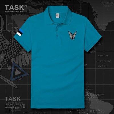 TASK 愛沙尼亞空軍特種兵純棉翻領POLO衫Estonia軍迷短袖t恤