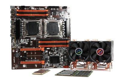 全新金牌X99雙CPU 48核 Xeon E5-2650V4 64G 可光華自取 2698 2697 2699 2690