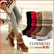 *鞋館Shoes hall*【A11005】甜蜜發表~可拆式皮帶扣兩穿粗跟短靴~4色~(可訂做大尺碼)