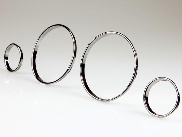 BMW寶馬5系列 E39 7系列 E38 X5 E53適用 儀錶環儀錶板飾框 汽車改裝精品 -鍍鉻黑 DR-00803