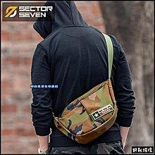 【野戰搖滾】SECTOR SEVEN 蟋蟀戰術側背包【Multicam Black】暗夜迷彩黑色多地形迷彩跨包斜背包