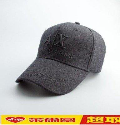 【免運】2020年新款高品質AX男士商務出行戶外休閑棒球帽子遮陽鴨舌帽太陽帽 Armani Exchange休閒帽