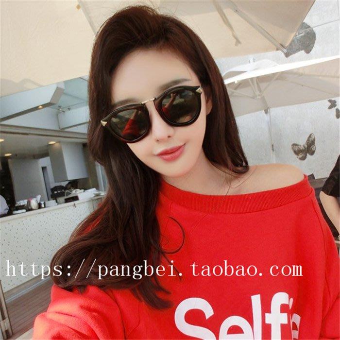 太陽眼鏡 墨鏡 平光眼鏡 男女太陽眼鏡 遮陽眼鏡 夏季 防紫外線 歐美復古防紫外線金屬箭頭太陽鏡女網紅同款新款眼鏡圓形墨鏡
