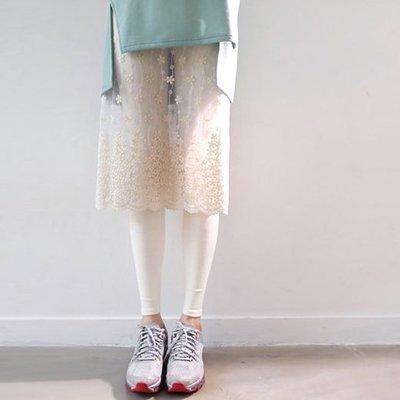 Muna collection╭oo○ 韓流ROMANTIC.穿透感see-through蕾絲裙的內搭褲,正韓,100%韓國空運 27076008