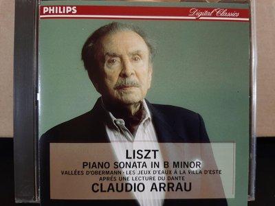 Arrau,Liszt-Piano Sonata In B Minor etc,阿勞,李斯特-B小調鋼琴奏鳴曲等,早期日本版,如新。