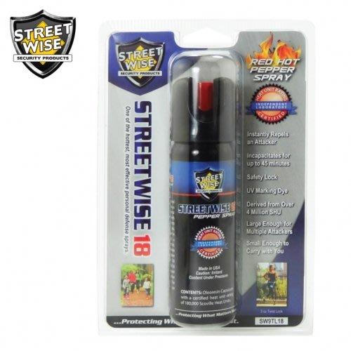 (4送1專區)12小時出貨(水柱形) 美國原裝進口Streetwise街頭保鑣 84ml防身噴霧器