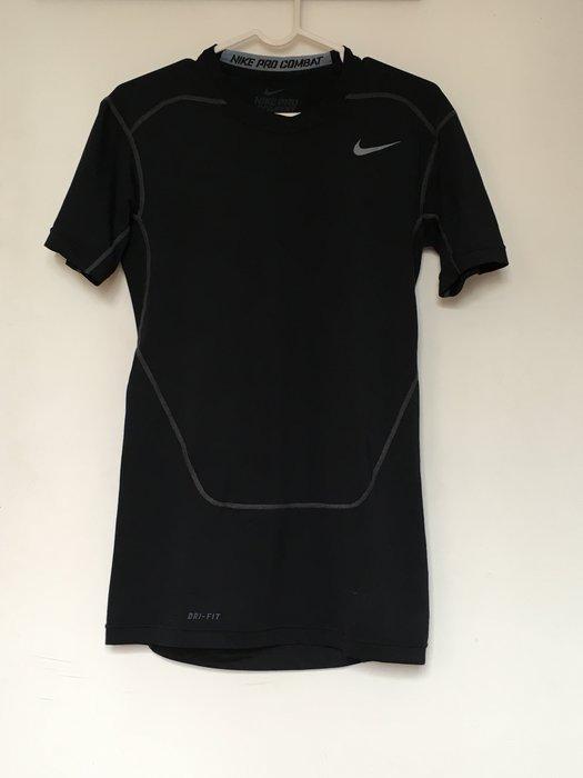 NIKE PRO COMBAT 緊身衣 短袖 保暖 重訓 健身 慢跑 籃球 極限運動 黑色 449792-010