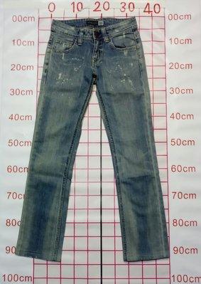 女 Jeans  IBS 腰圍32cm 無彈性 潑漆  *瑕疵圖二*  (0509)