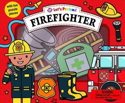 *小貝比的家*LETS PRETEND: FIREFIGHTER/硬頁/3~6歲/拼圖書