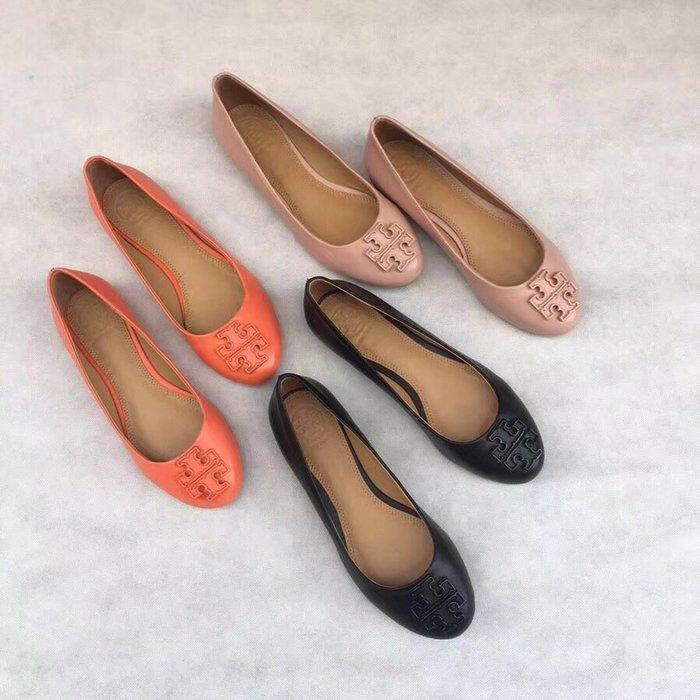 NaNa代購 Tory Burch 春夏季單鞋 豆豆鞋 羊皮鞋面 內裡羊皮 柔軟舒適 鞋型秀美 上腳顯瘦 附購證