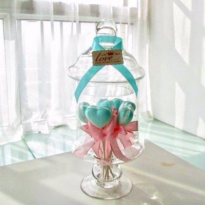 **蕾絲公主**新品推出part2**歐式高腳玻璃糖果罐(F款)~婚禮佈置、夢幻candy bar、主題週歲生日派對