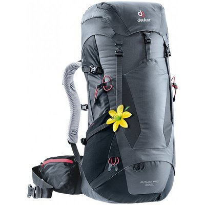 【大山野營】送手電筒 德國 Deuter 3401218 FUTURA PRO 38SL 灰/黑 透氣網架背包 登山背包