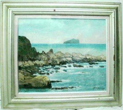 楊興生油畫:龜山島海景