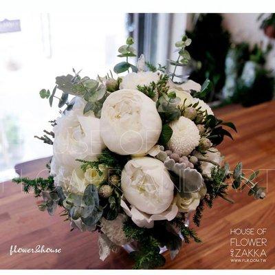 F29-新娘捧花。牡丹捧花。拍照捧花。結婚捧花。求婚。【Flower&House花藝之家】