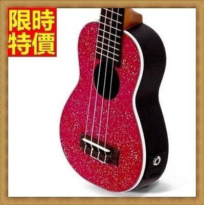 烏克麗麗 ukulele-閃鑽夏威夷吉他21吋雲杉木合板四弦琴樂器3色69x35[獨家進口][米蘭精品]