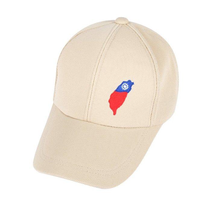 ☆二鹿帽飾☆(國旗帽) /流行棒球帽/紀念帽/最新帽款帽簷加長型-台灣製(可客製化) 10.5cm-卡其色