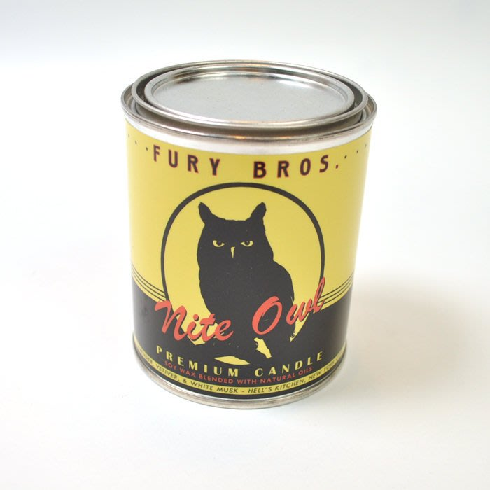 Freaky House-美國Fury Bros.機油罐造型天然有機香氛蠟燭Nite Owl夜鴞薰衣草
