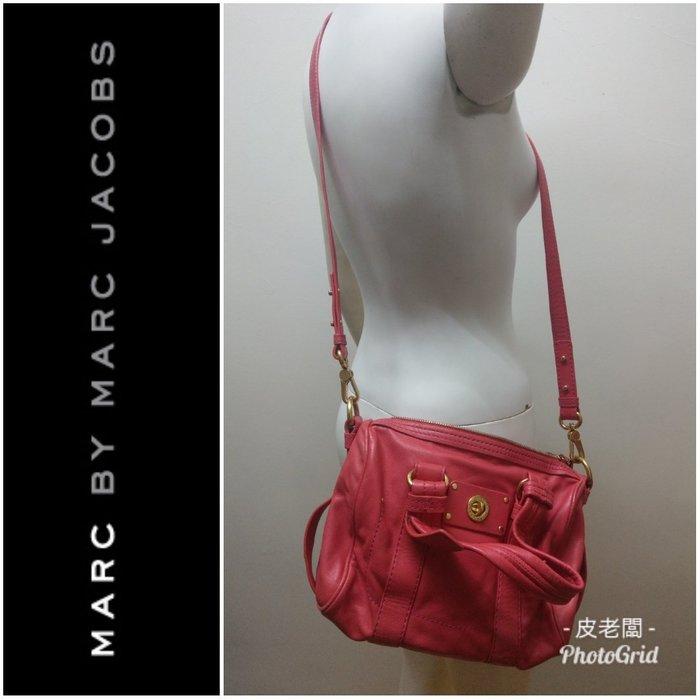 【皮老闆】二手真品 Marc by Marc Jacobs MBMJ 紅色 手提包 肩背包 兩用 (P)