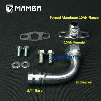 """90Deg 3/4"""" barb Turbo oil return Drain pipe adapter fitting"""