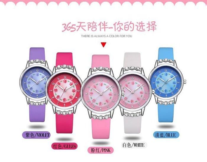 ☜男神閣☞兒童手錶女孩防水石英錶中小學生女童女生錶可愛簡約潮流水?腕錶