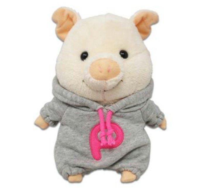 天使熊雜貨小鋪~日本ぷーとんビッグロゴパーカー(S)連帽衫小豬娃娃 玩偶 全新現貨
