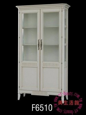 美生活館三館--浪漫白色家具--愛妮塔復古白 雙門展示櫃