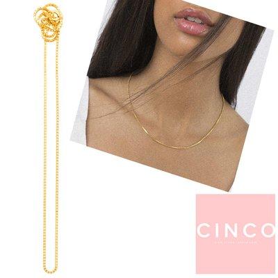 CINCO 葡萄牙精品 Dolce choker 24K金頸鍊 簡約鎖骨鍊