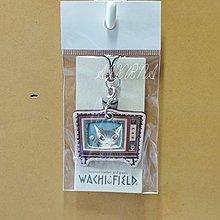 wachifield-dayan(瓦奇菲爾德,達洋)~全新品貓咪真皮手機吊飾(電視)