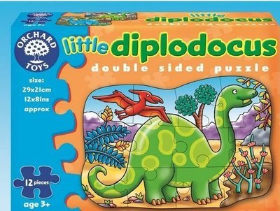 *小P書樂園* 【Orchard Toys】幼兒雙面拼圖 恐龍 double sided little diplodoc