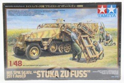 【統一模型】TAMIYA田宮《德軍 裝甲兵員輸送車D型-搭載型 STUKA ZU FUSS》1:48 # 32566