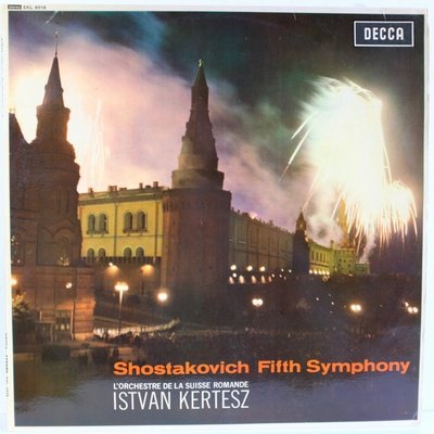 DECCA SXL 6018 /蕭士塔高維奇:第5號交響曲 /克爾提斯 /英國/大DECCA grooved ED1