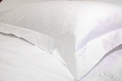 居家家飾設計 飯店 民宿寢具系列-CVC平織-框邊式-枕套(2入)-尺寸50*75cm-適用48*75cm枕頭