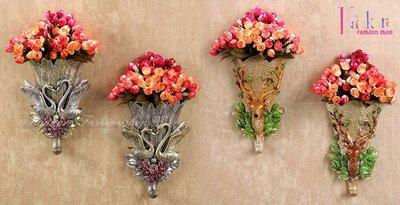☆[Hankaro]☆ 歐風創意家居華麗動物花器造型衣帽掛勾門後掛勾系列