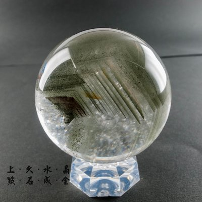 『上久水晶』綠幽靈球_282g_58m...