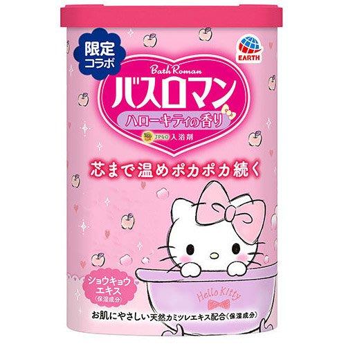 【JPGO】預購-日本製 地球製藥 Bath Roman 凱蒂貓限定款 潤膚入浴劑 600g~粉色清香#113