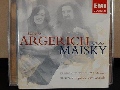 Maisky,Argerich,Franck&Debussy-Cell.s etc麥斯基,阿格麗希,佛朗克&德布西-大提琴奏鳴曲等,如新。