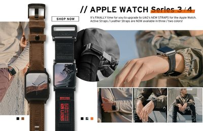 光華商場。包你個頭【UAG】apple watch 44mm 42mm 手錶 尼龍材質 錶帶 迷彩白 黑色 橘色 公司貨