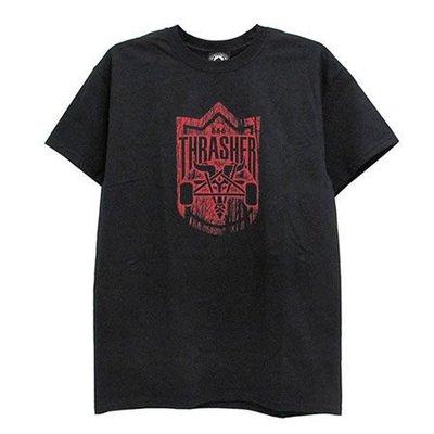 【THRASHER】HABITAT DARK FOREST GOAT 純棉圓筒Tee (黑色)