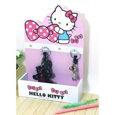 新款上市~限時優惠價 正版 木製 Hello Kitty 掛式收納盒【羅曼蒂克專賣店五館】KT-1091